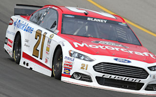 Blaney holds off Harvick for first career win