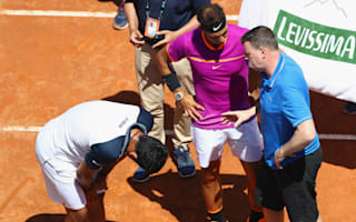 Almagro injury sends Nadal through, Wawrinka gains Paire revenge