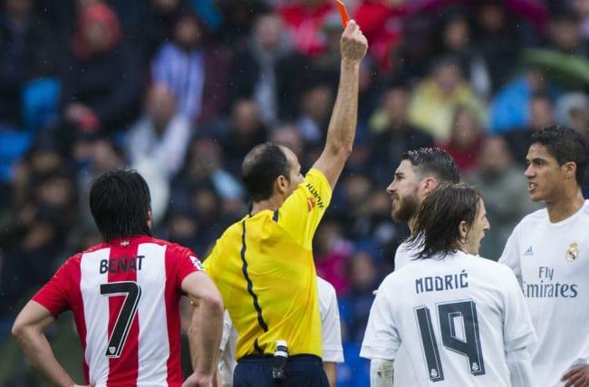 My red card was not fair - Varane
