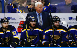 Blues coach Hitchcock signs one-year deal, will retire after 2016-17