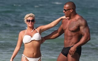 Kerry Katona and boyfriend frolic on Dubai beach