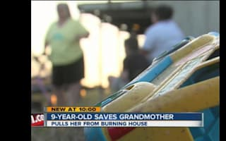 Boy, 9, saves grandmother from burning home