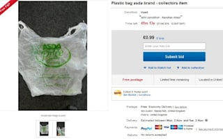Chancers put 'retro' carrier bags on eBay
