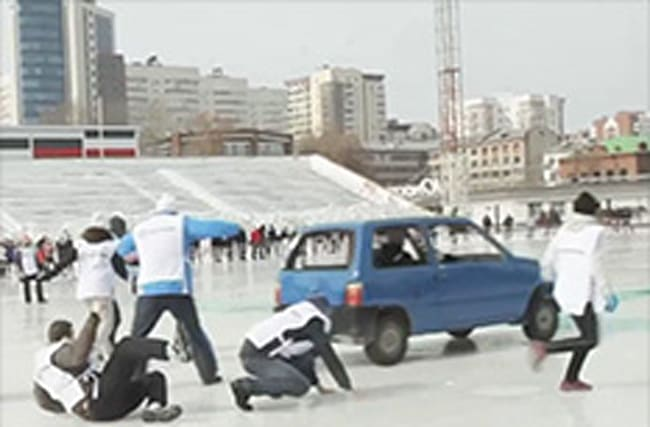 Bizarre new sport of car curling takes off in Russia