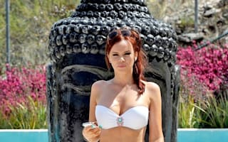 Towie's Maria Fowler poses poolside in Marbella