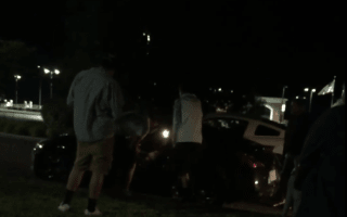 Mum berates son for crashing in front of his friends