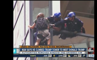 Man scales Manhattan's Trump Tower using suction caps
