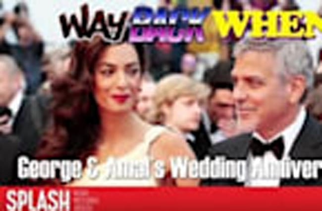 Way Back When: Happy Anniversary George and Amal Clooney