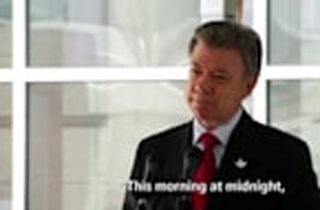 Santos: Ceasefire Between FARC, Government Has Begun