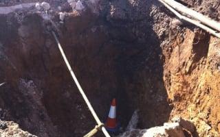 Massive sinkhole appears in Somerset