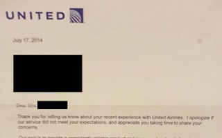 United Airlines 'sends passenger' worst apology letter ever