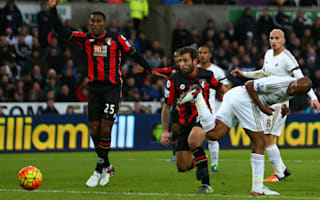 Swansea City 2 AFC Bournemouth 2: Ayew, Shelvey rescue draw for Monk's side
