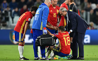 Injured Alba out of Spain squad as Monreal steps in