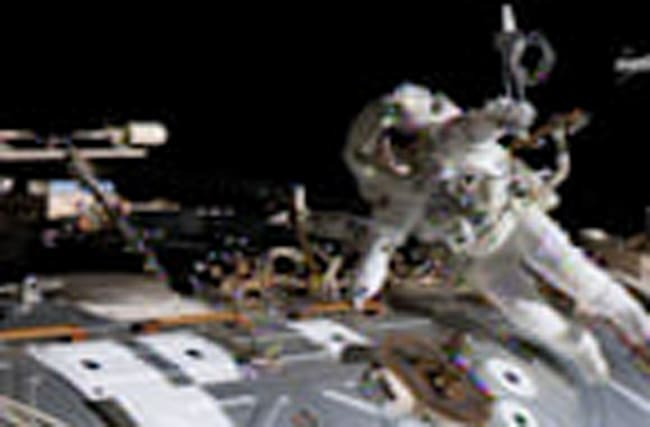 ISS emergency spacewalk underway