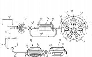 Daimler patents tyre cooling through water injection