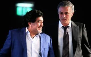 Mourinho gets a call from Maradona after Arsenal draw