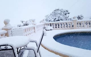 Costa Blanca and Majorca covered in snow for first time in years