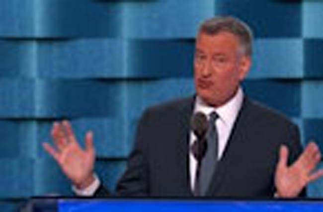 "De Blasio: ""She's right and she's ready"""