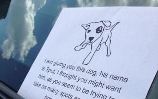 Hilarious passive-aggressive parking note surfaces online