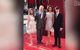 Catherine Zeta-Jones and Michael Douglas 'totally laid back' in rare snap with their children