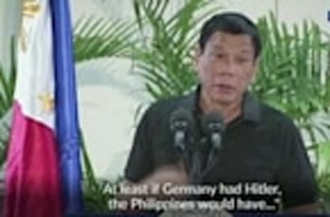 Filipino president 'happy' to slaughter millions of drug users