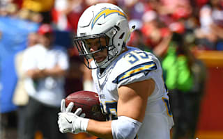Chargers' Woodhead out for season with torn ACL
