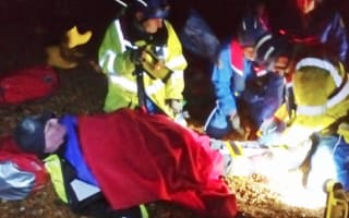 Tourist in two-hour crawl on Devon beach with broken leg after fall