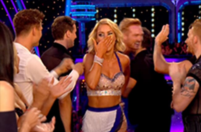 Strictly : Natalie Lowe drops the F-bomb during first live show