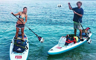 Couple stand-up paddleboard 120 miles around the Mediterranean