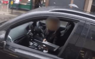 Motorist caught using laptop at the wheel in London