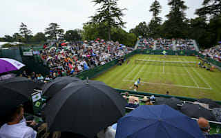 Djokovic absent on damp day at The Boodles