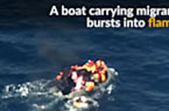Migrants rescued from burning boat near Spanish coast