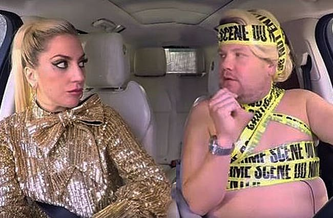 Lady Gaga wows as she joins James Corden on Carpool Karaoke