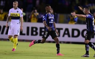 Independiente del Valle 2 Boca Juniors 1: Cabezas and Angulo complete first-leg comeback