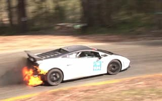 Video: How to win a race with a flaming Lamborghini