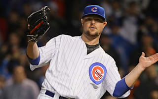 Cubs top Giants behind Lester's complete game, Schwarber's career-long HR