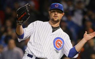 Cubs top Giants behind Lester's complete game, Schwarber's career-long HR