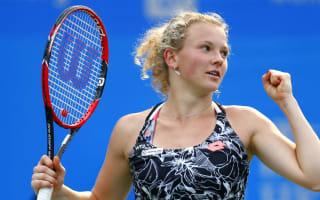 Siniakova upsets Konta to set up Riske final
