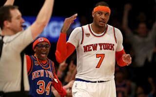 Carmelo Anthony lifts Knicks past Spurs, Pistons complete rally