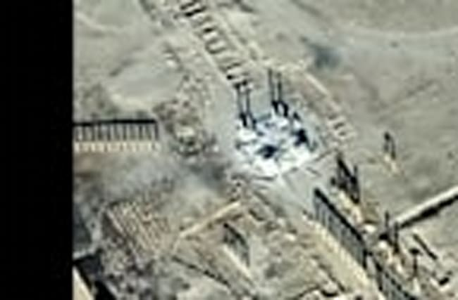 Islamic State destroys famous monument in Syria's Palmyra - satellite images
