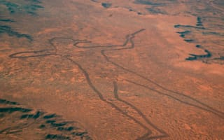Two-mile long drawing of man with bird head found in Australian desert