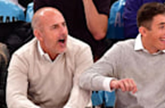Matt Lauer and 15-Year-Old Son Jack Rock Matching Sweaters to New York Knicks Game