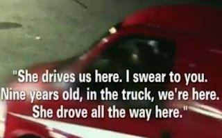 Video: Hammered dad gets nine-year-old daughter to drive