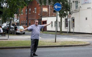 "John ""Two Jags"" Prescott photographed directing traffic on Humberside"