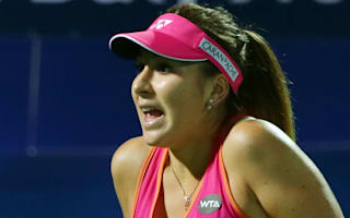 Emotional Bencic and Vinci crash out in Dubai