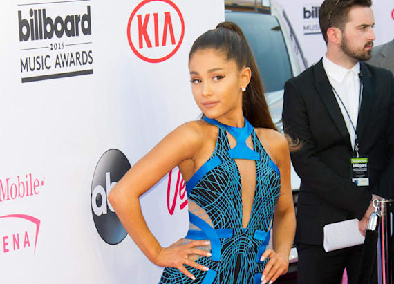 Ariana Grande switches her signature hairdo