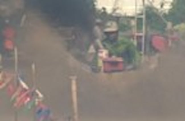 Muddy drama in Thai tractor race