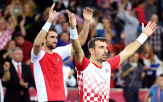 Croatia edge ahead in Davis Cup decider