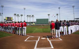 Spontaneous sprinklers interrupt Reds-Indians MLB spring training game