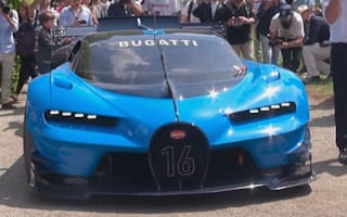 Bugatti Vision GT makes noisy exit from Italian event